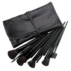 Professional Makeup Brush With Free Case 18PCS (Black)