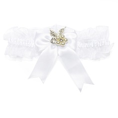 Elegant Organza With Bowknot/Pearl Wedding Garters