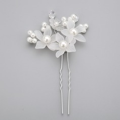 Flower Shaped Imitation Pearls/Acrylic Hairpins