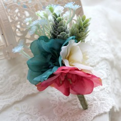 Special Free-Form Satin Boutonniere/Men's Accessories
