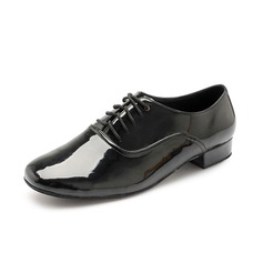 Men's Patent Leather Flats Modern Dance Shoes