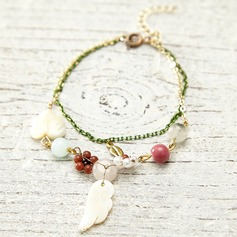 Unique Shell Natural Stone With Imitation Pearl Ladies' Fashion Bracelets