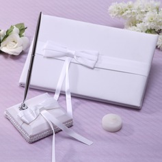Elegant Ribbons/Bow Guestbook & Pen Set