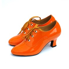 Women's Leatherette Heels Pumps Modern Dance Shoes