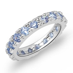 Shining Zircon/Platinum Plated Ladies' Rings