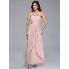 A-Line/Princess Sweetheart Ankle-Length Chiffon Bridesmaid Dress With Ruffle