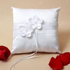 Elegant Wedding Ring Pillow With Flowers(103018376)