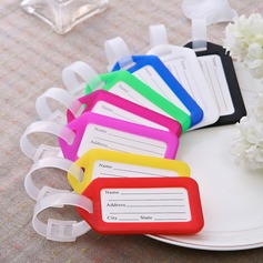 Simple Hard plastic Luggage Tags (Set of 12)