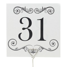 Artistic Pearl Paper Table Number Cards