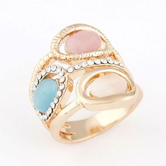 Beautiful Alloy With Imitation Crystal Ladies' Fashion Rings