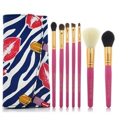 7Pcs Fashion Portable Makeup Brush Set With Colorful Cosmetic Bag