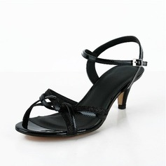 Satin Leatherette Cone Heel Sandals Pumps With Feather Braided Strap shoes