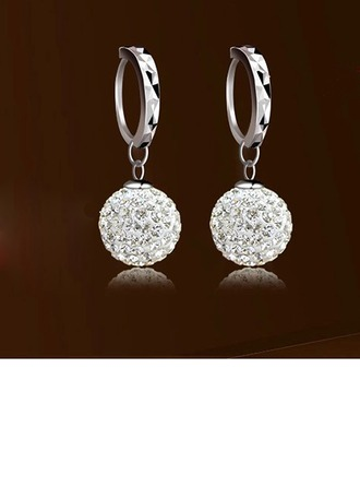 Unique Silver With Rhinestone Girls' Fashion Earrings