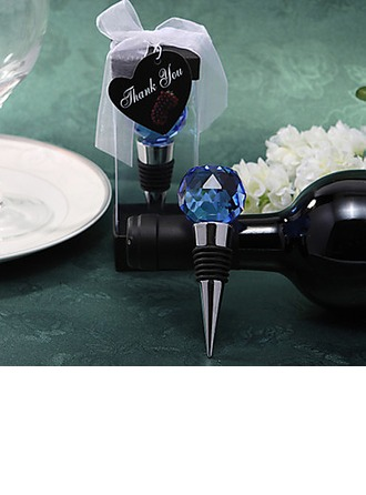Crystal Ball Top Bottle Stoppers