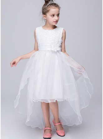 Princess Tulle/Sequined Girl Dress With Flower(s)
