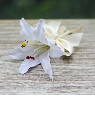 Pretty Artificial Silk Boutonniere/Men's Accessories