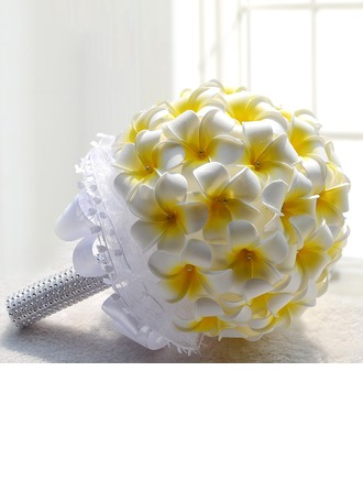 Blooming Round Foam Bridal Bouquets