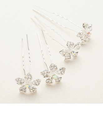 Handmade/Amazing Alloy/Austrian Crystal Hairpins(Set of 4)