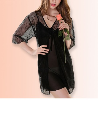 Lace/Chiffon Feminine Sleepwear(Including Chemise And Robe)