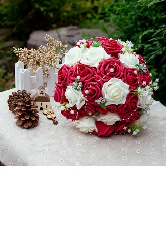 Sweet Round Poly Ethylene/Pearl Bridal Bouquets