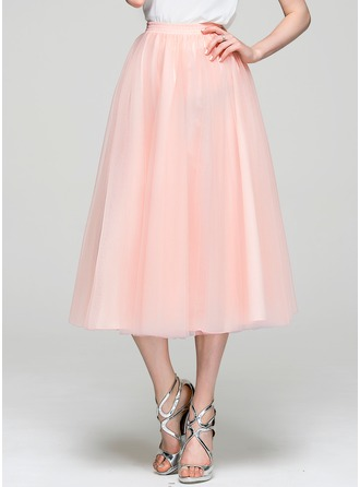 Robe Princesse Longueur mollet Tulle Robe de cocktail