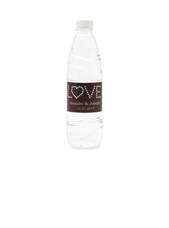 "Personalized ""Love"" Waterproofing Material Water Bottle Sticker (Set of 15)"