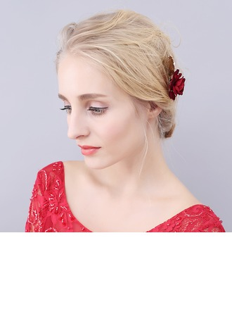 Romantic Alloy/Cloth Hairpins (Sold in single piece)
