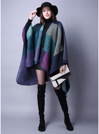 Color Block oversize/Scialle Poncho