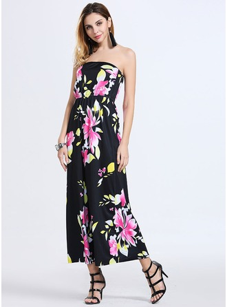 Spandex/Acrylic With Print Maxi Dress