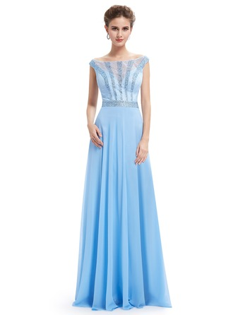 Polyester/Lace/Satin/Tüll/Silk Blend mit Maxi Kleid