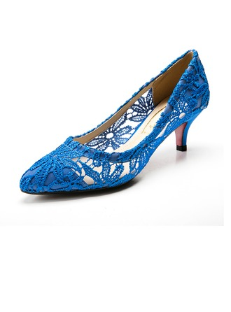 Women's Fabric Low Heel Closed Toe Pumps