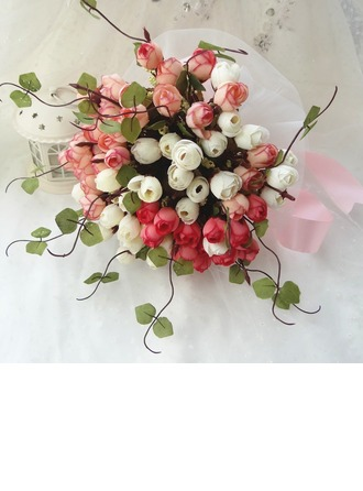 Gorgeous Hand-tied Cloth Bridal Bouquets