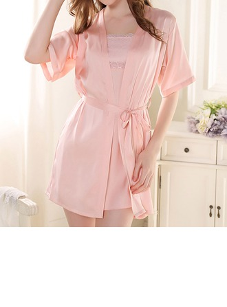 Artificial Silk Feminine Sleepwear (Including Chemise And Robe)