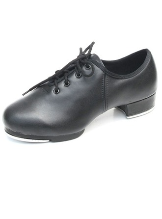 Women's Kids' Leatherette Heels Tap With Lace-up Dance Shoes