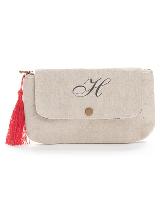 Personalized Pretty Linen Wallets & Accessories