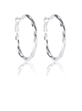Beautiful Alloy Silver Plated Ladies' Fashion Earrings