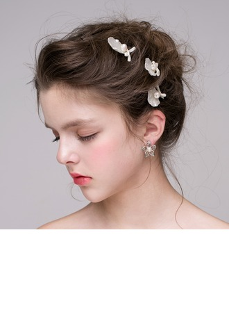 Simple Alloy/Freshwater Pearl Hairpins