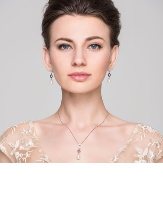 Attractive Pearl/Sterling Silver Ladies' Jewelry Sets