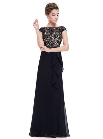 Polyester/Lace/Satin/Tulle With Stitching Maxi Dress