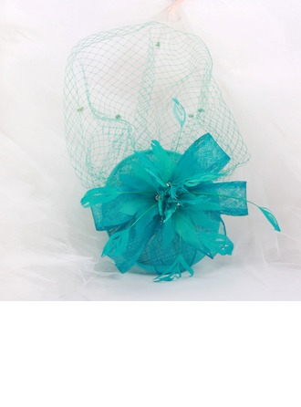 Dames Mode Batiste/Feather/Fil net avec Bowknot/Tulle Chapeaux de type fascinator