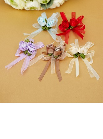 Lovely Bowknot Rose shaped Satin Decorative Accessories
