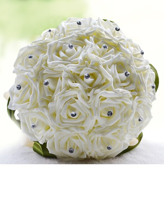 Round Artificial Silk Bridal Bouquets