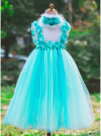 Tulle With Flower Dresses