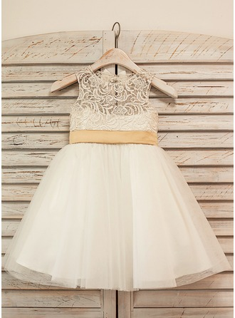Princess Tulle/Lace Girl Dress With Bows