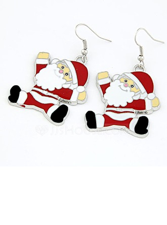 Father Christmas Alloy Coloured Glaze Women's Fashion Earrings