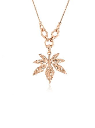 Leaves Shaped Alloy With Rhinestone Women's/Ladies' Necklaces