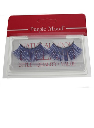 1 Pair Blue Shimmer Cannetille Style False Eyelashes CFE455