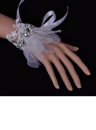 Romantic Czech Stones/Lace/Organza Ladies' Bracelets