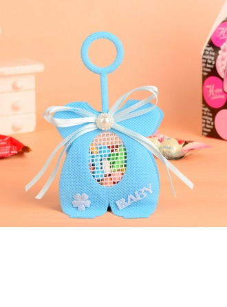 """Baby"" Handbag shaped Favor Bags With Pearl/Bow"
