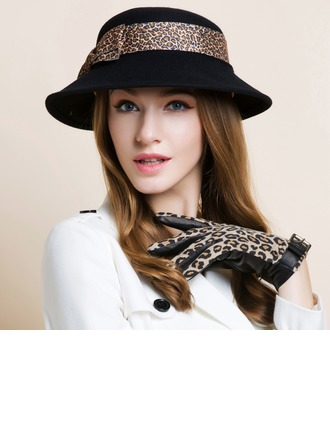Ladies' Pretty Autumn/Winter Wool With Bowler/Cloche Hat